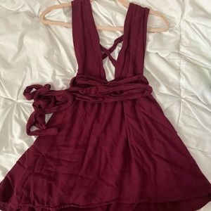 Tobi Maroon Evening dress